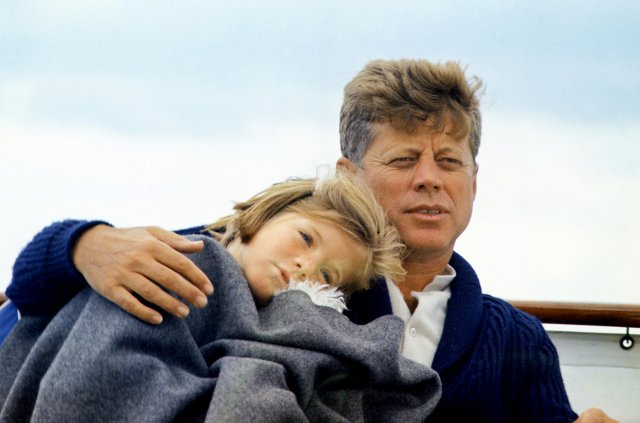 JFK_with_Caroline_on_the_Honey_Fitz,_1963