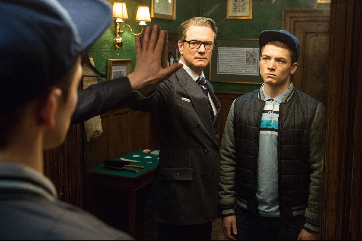 colin firth and taron egerton in kingsman the secret service 2014 large picture.0