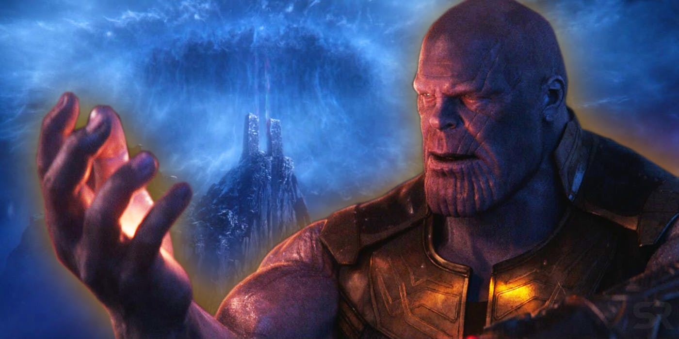 Thanos with the Soul Stone on Vormir