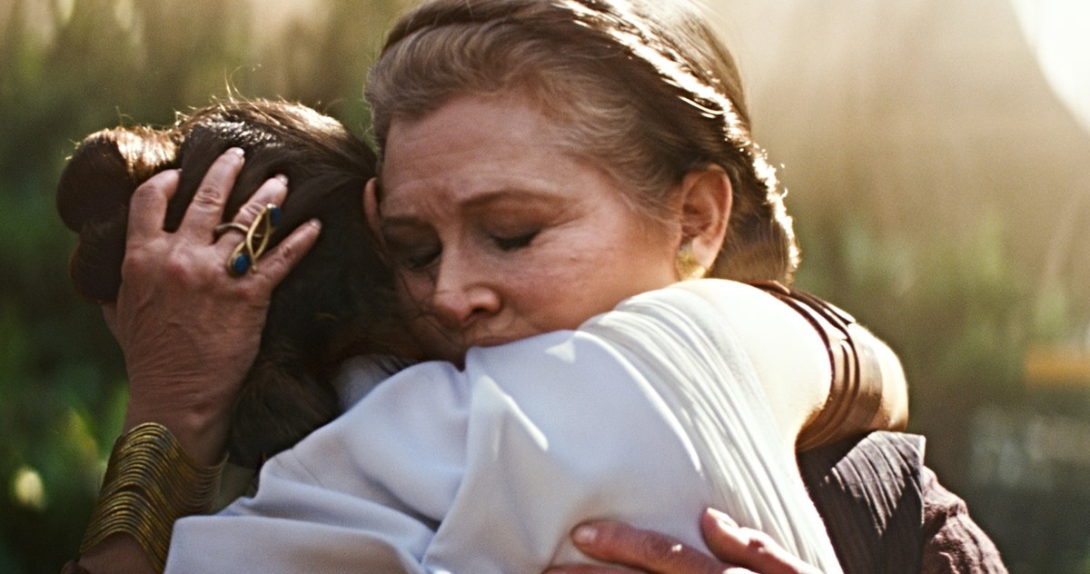 Leia Tinggal di First Star Wars: The Rise of Skywalker Footage