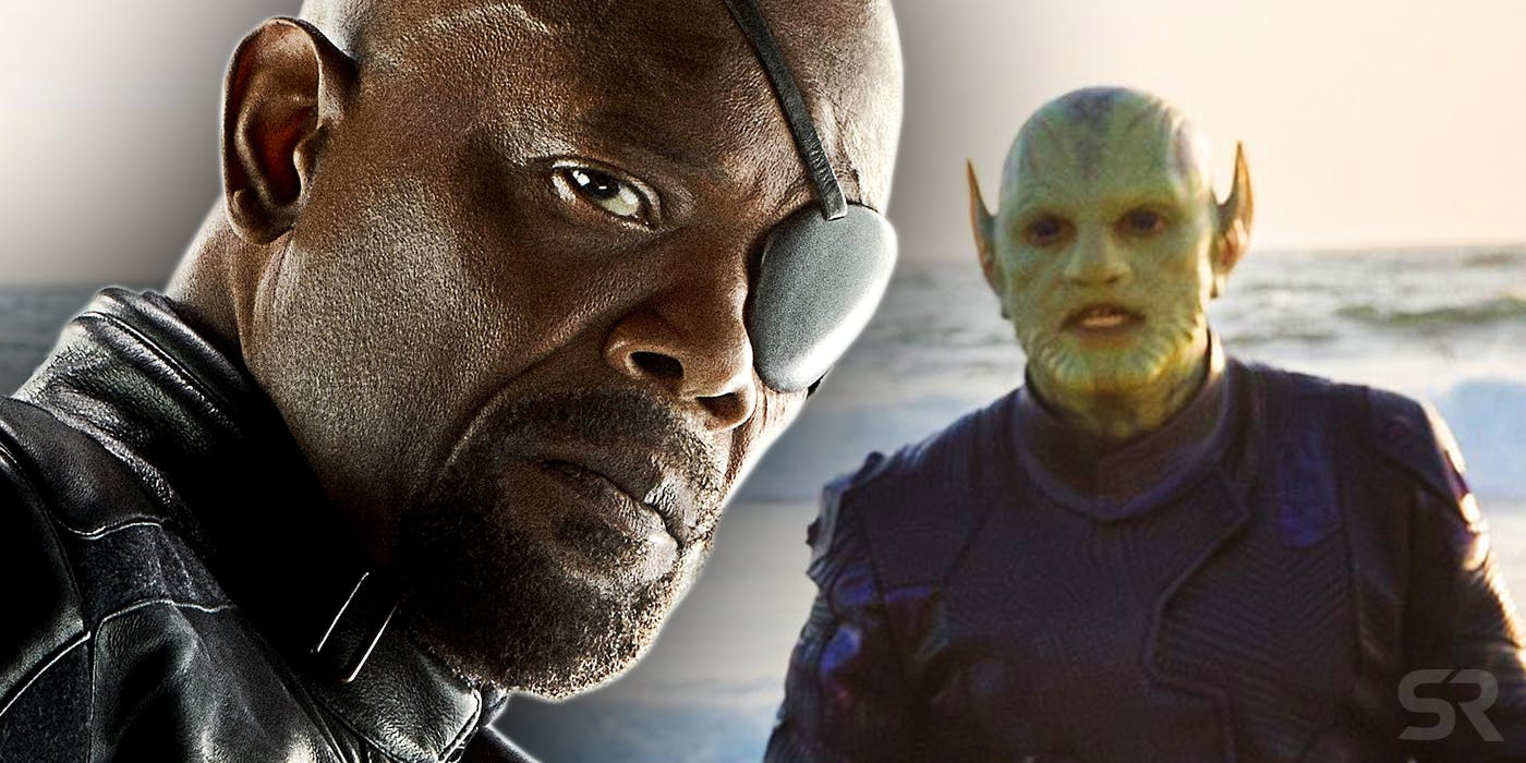 Nick Fury in Avengers Age of Ultron and a Skrull